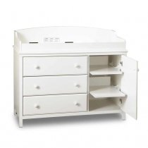South Shore Cotton Candy Changing Table - Pure White