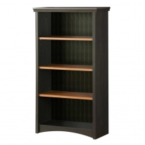 South Shore Gascony Bookcase - Ebony/Spice