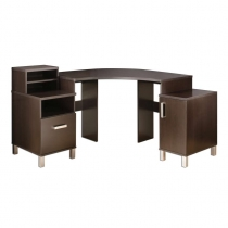 South Shore Element Corner Desk - Chocolate