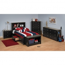 Prepac Sonoma Kids Black Bedroom Set