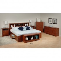 Prepac Monterey Cherry Finish Master Bedroom Set
