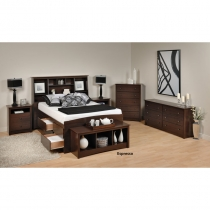 Prepac Fremont 6 Pc. Espresso Master Bedroom Set