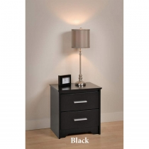 Prepac Coal Harbor 2 Drawer Night Stand (2 Finishes)
