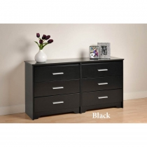 Prepac Coal Harbor 6 Drawer Dresser (2 Finishes)