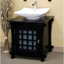 Bellaterra 29.9 in. Single Sink Vanity - Black