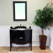 Bellaterra 36.6 in. Single Sink Wood Vanity in Black