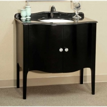 Bellaterra 36.6 in. Single Sink Vanity - Black