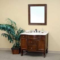 Bellaterra 38.2 in. Single Sink Vanity - Medium Walnut