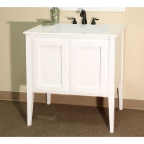 Bellaterra 33.5 in. Single Sink Vanity - White