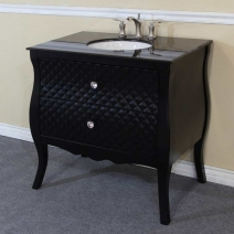 Bellaterra 35.4 in. Single Sink Vanity - Black