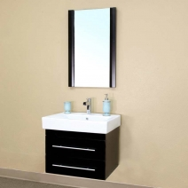 Bellaterra 24.25 in. Single Wall Mount Sink Vanity - Black