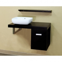 Bellaterra 35.4 in. Single Wall Mount Sink Vanity - Black
