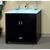 Bellaterra 32.3 in. Single Sink Vanity - Black