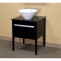 Bellaterra 26 in. Single Sink Vanity - Black
