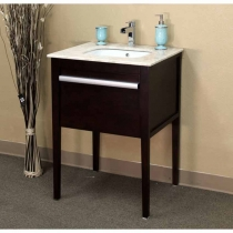 Bellaterra 26 in. Single Sink Vanity - Cherry