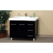 Bellaterra 39 in. Single Sink Vanity - Black