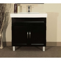 Bellaterra 31.5 in. Single Sink Vanity - Black