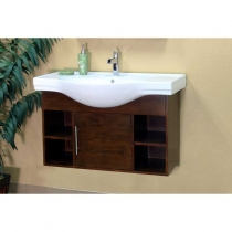 Bellaterra 40.5 in. Single Sink Vanity - Medium Walnut