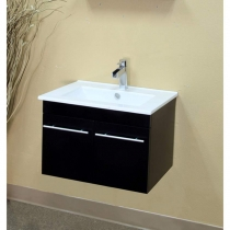 Bellaterra 24.4 in. Single Wall Mount Sink Vanity - Black