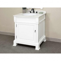 Bellaterra 30 in. Single Sink Vanity - Cream White