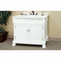 Bellaterra 42 in. Single Sink Vanity - Cream White