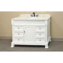 Bellaterra 50 in. Single Sink Vanity - Cream White