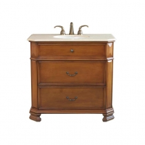 Bellaterra 38 in. Single Sink Vanity - Light Walnut