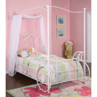 Powell Princess Emily Carriage Canopy Twin Size Bed