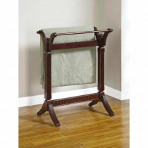 *AVAIL 7/10 Powell Contemporary Merlot Blanket Rack