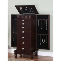 Powell Contemporary Merlot Jewelry Armoire