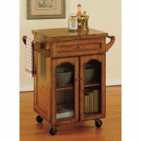 Powell Noble Oak Kitchen Cart