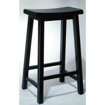 Powell Antique Black Bar Stool