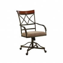 Powell Hamilton Swivel Tilt Dining Chair on Casters