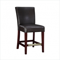 Powell Brown Bonded Leather Bar Stool