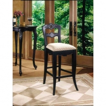 Powell Hills of Provence Antique Black Over Terra Cotta Bar Stool