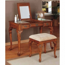 Powell Jamestown Landing Deep Cherry Vanity/Bench
