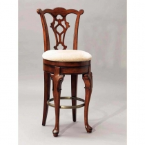 Powell Jamestown Landing Deep Cherry Swivel Armless Bar Stool