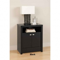 Prepac 2 Door Tall Night Stand Series 9 Designer (3 Finishes)