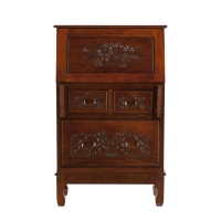 Holly & Martin Logan Hand Carved Secretary Desk
