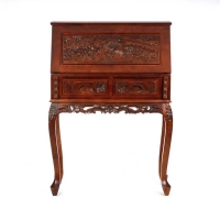 Holly & Martin Logan Hand-Carved Drop Front Desk