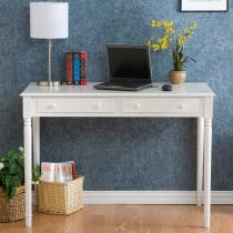 Holly & Martin Parker Crisp White 2 Drawer Writing Desk