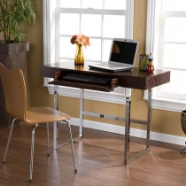 Holly & Martin Micah Desk-Espresso and Chrome