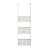 Holly & Martin Hazel Over-the-Door 3-Tier Basket Storage-White