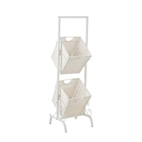 Holly & Martin Abigail 2-Tier Basket Storage-White