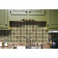 Prime Source Forest Medallion Decorative Vinyl Backsplash Wall Tiles