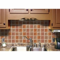 Prime Source Tuscany Medallion Decorative Vinyl Backsplash Wall Tiles