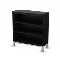 South Shore Flexible 3 Shelf Bookcase - Black Oak