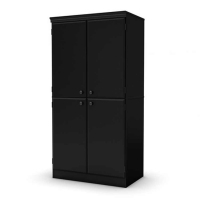 South Shore Morgan Storage Cabinet - Pure Black