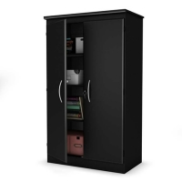 South Shore Axess Storage Cabinet - Pure Black