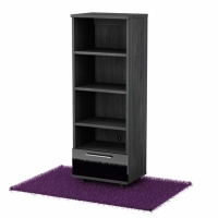 South Shore Reflekt Bookcase - Gray Oak